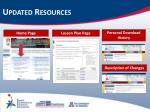 updated resources