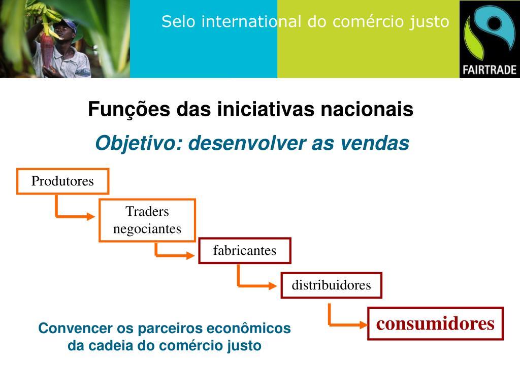 Funções das iniciativas nacionais