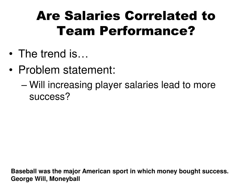 Are Salaries Correlated to Team Performance?