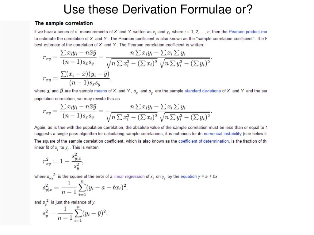 Use these Derivation Formulae or?