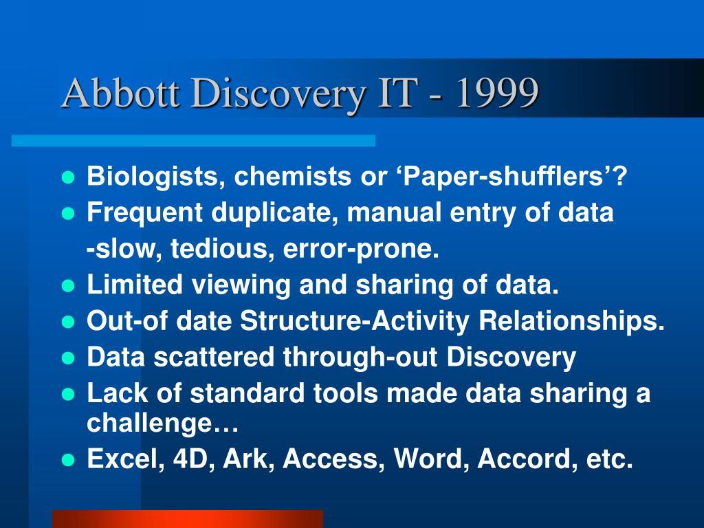 Abbott Discovery IT - 1999