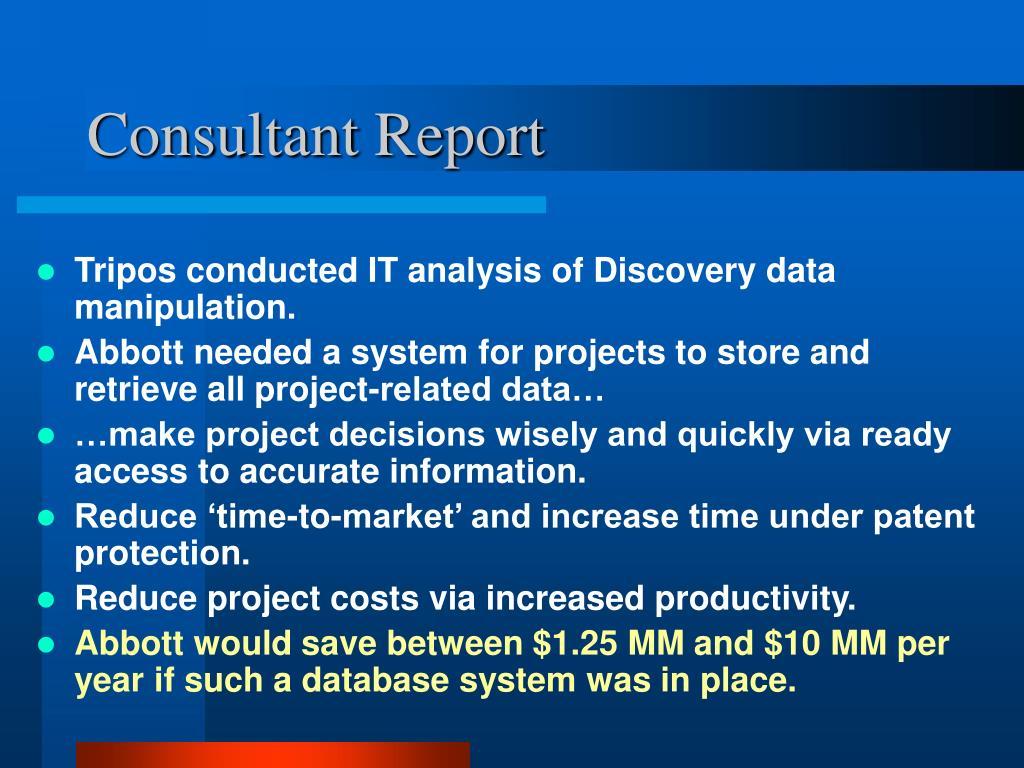 Consultant Report