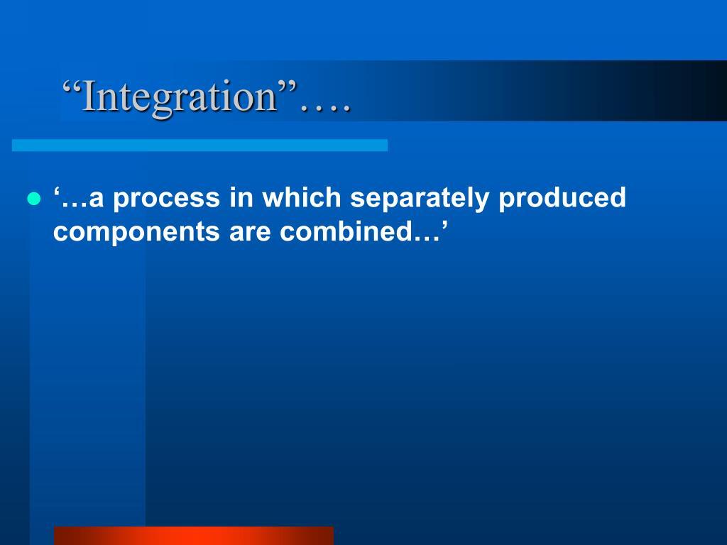 """Integration""…."