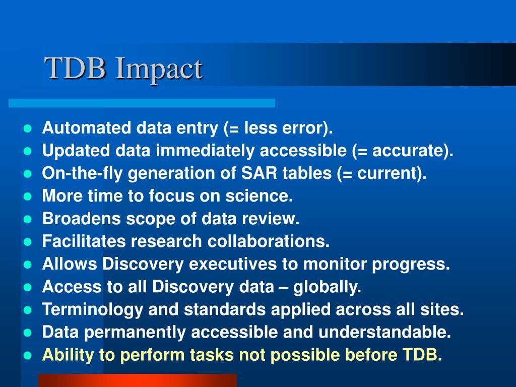 TDB Impact