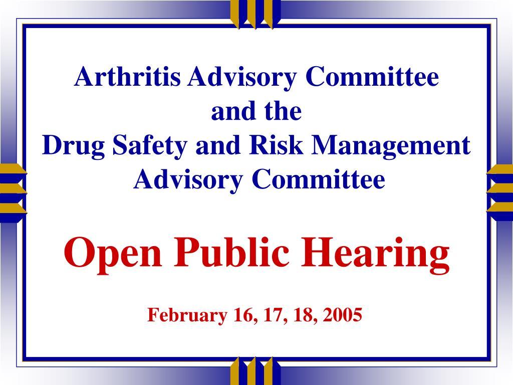 Arthritis Advisory Committee