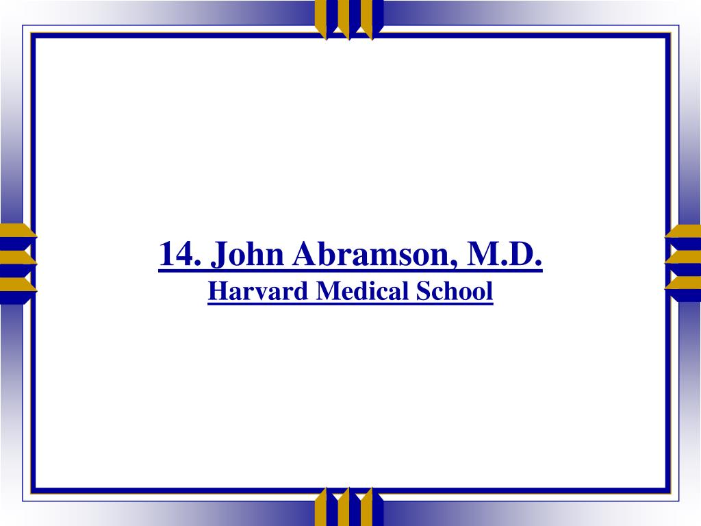14. John Abramson, M.D.