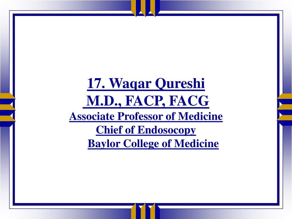 17. Waqar Qureshi