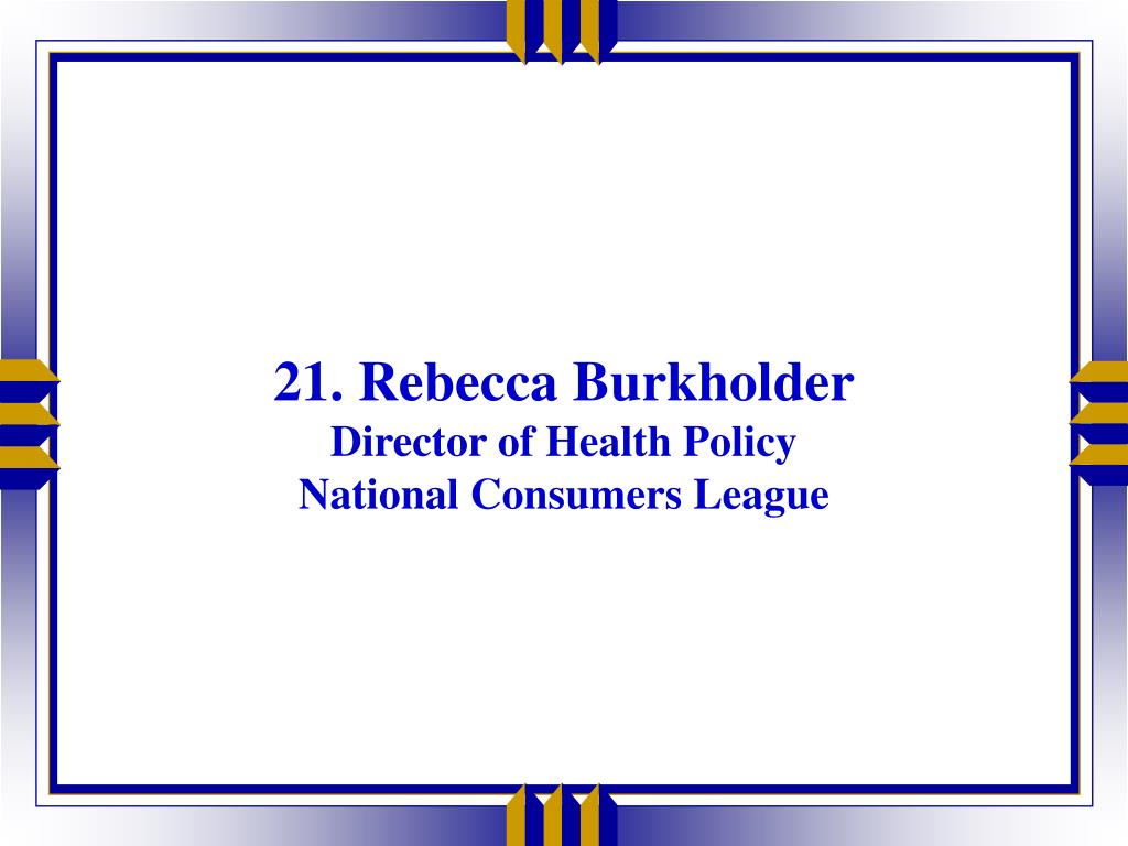 21. Rebecca Burkholder