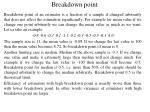 breakdown point