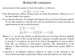 robust m estimators