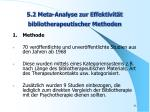 5 2 meta analyse zur effektivit t bibliotherapeutischer methoden
