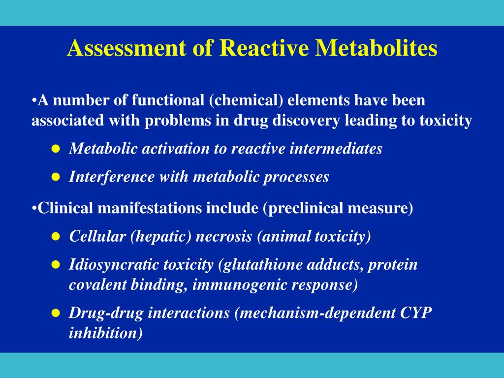 Assessment of Reactive Metabolites