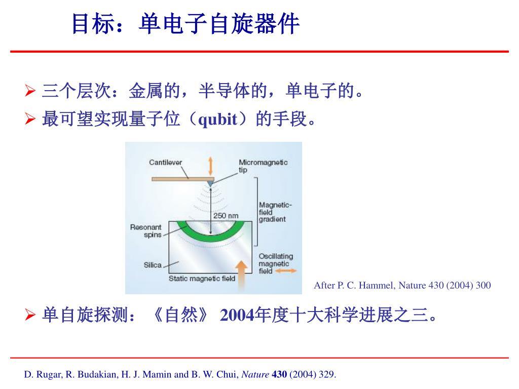 目标:单电子自旋器件