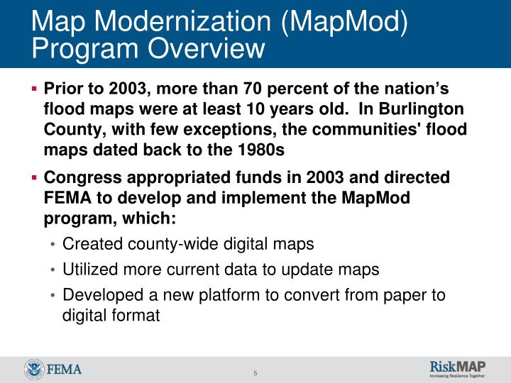 Map Modernization (MapMod) Program Overview