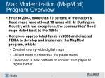 map modernization mapmod program overview