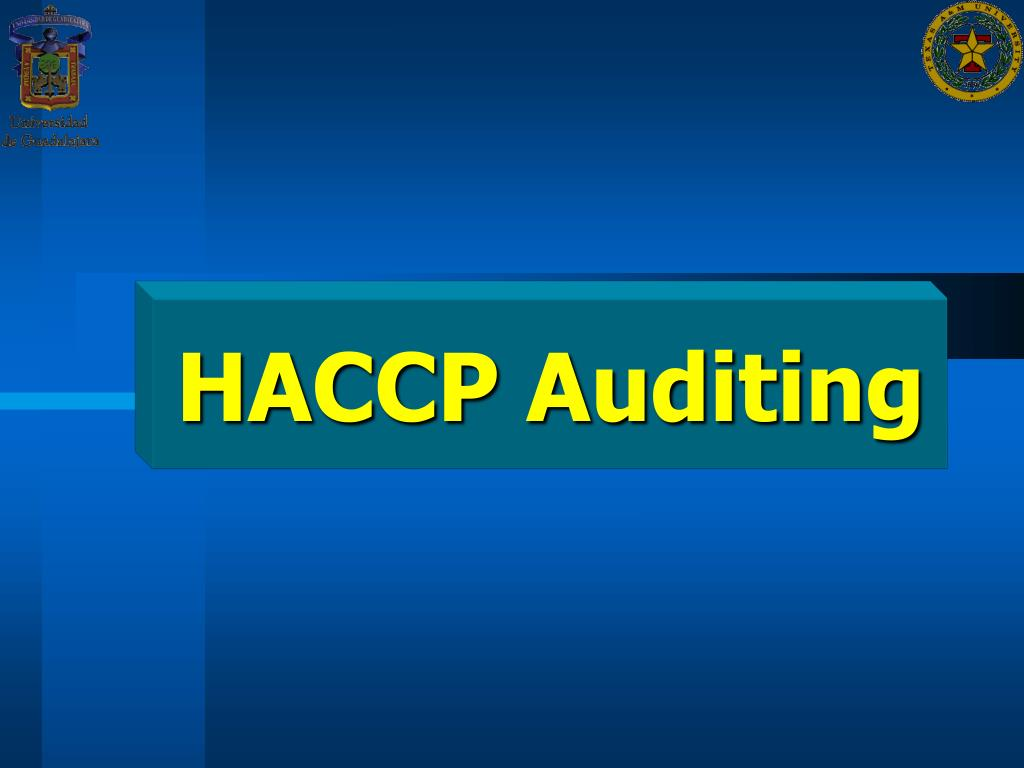HACCP Auditing