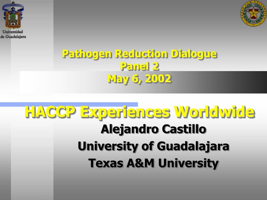 Pathogen Reduction Dialogue