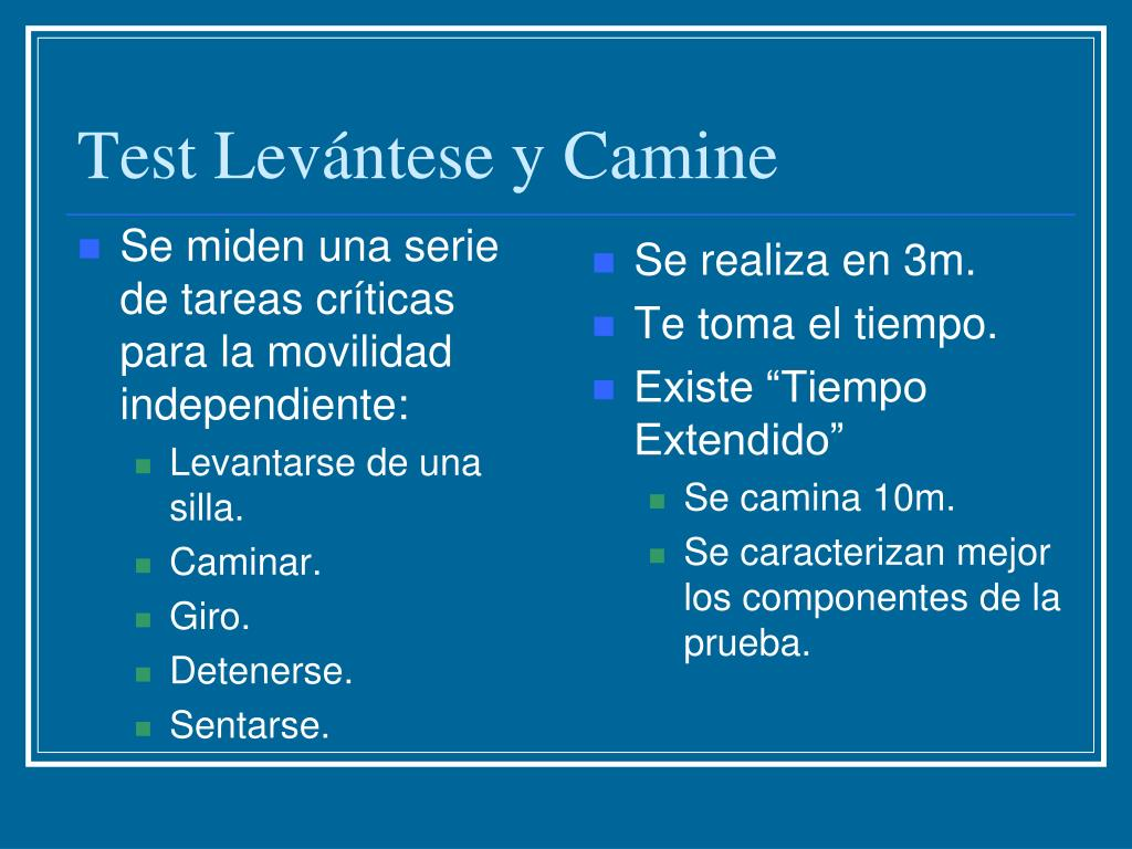 Test Levántese y Camine