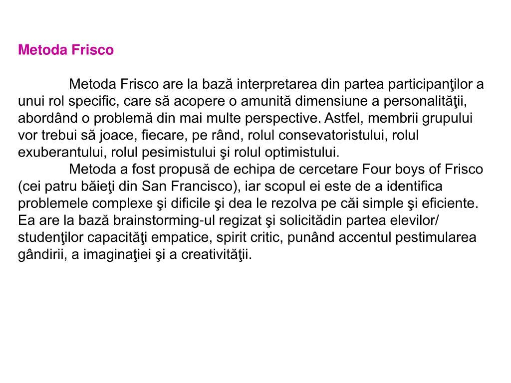 Metoda Frisco
