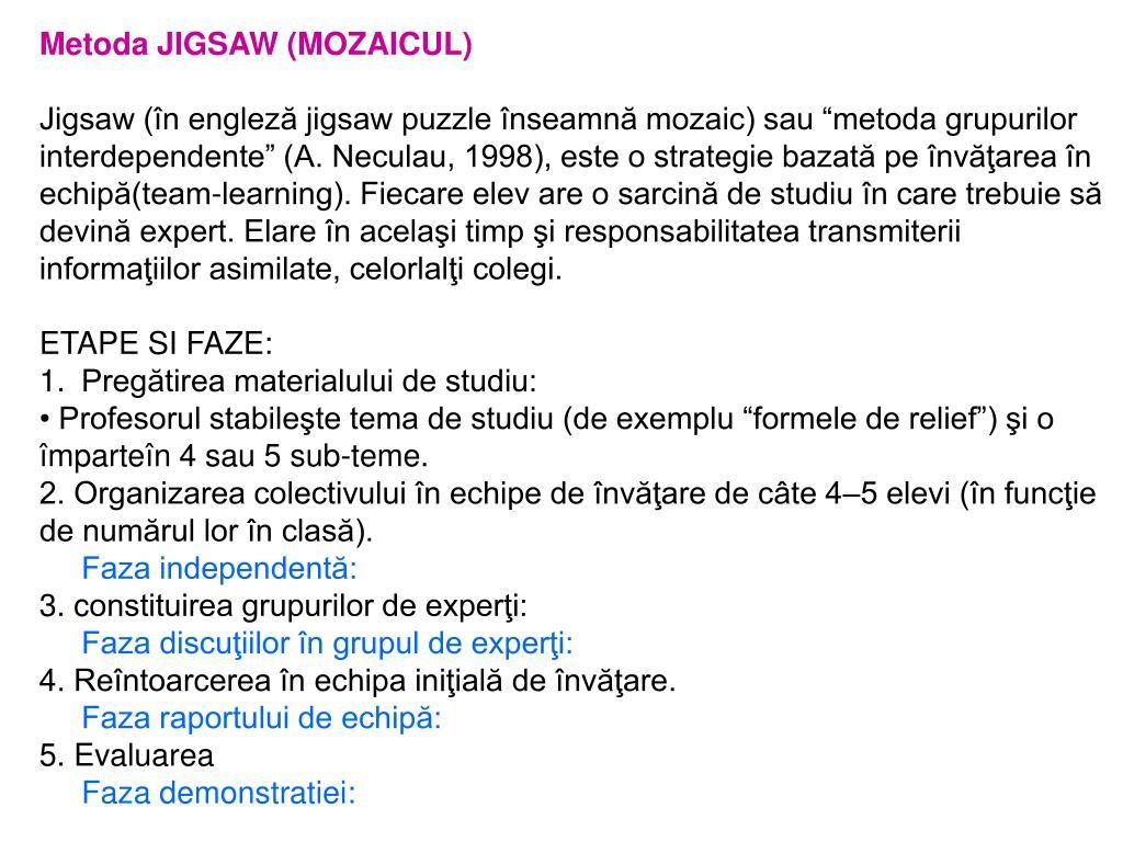 Metoda JIGSAW (MOZAICUL)