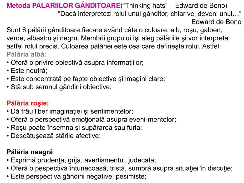Metoda PALARIILOR GÃNDITOARE