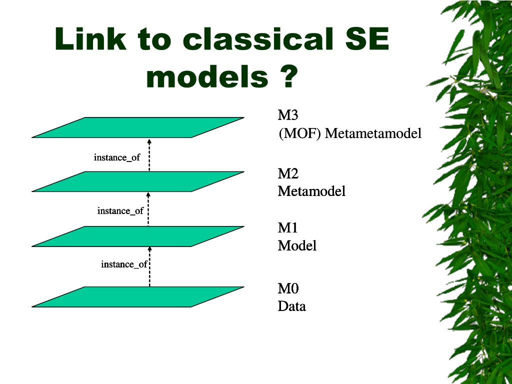 Link to classical SE models ?