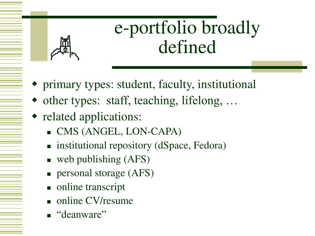 e-portfolio broadly defined