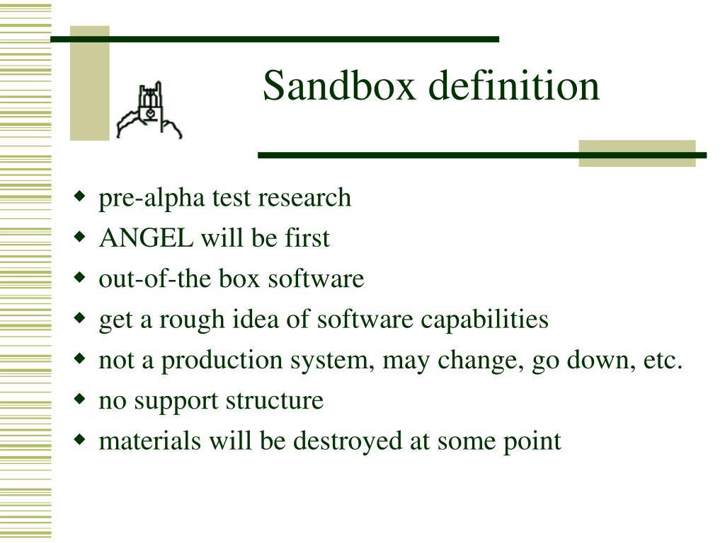 Sandbox definition