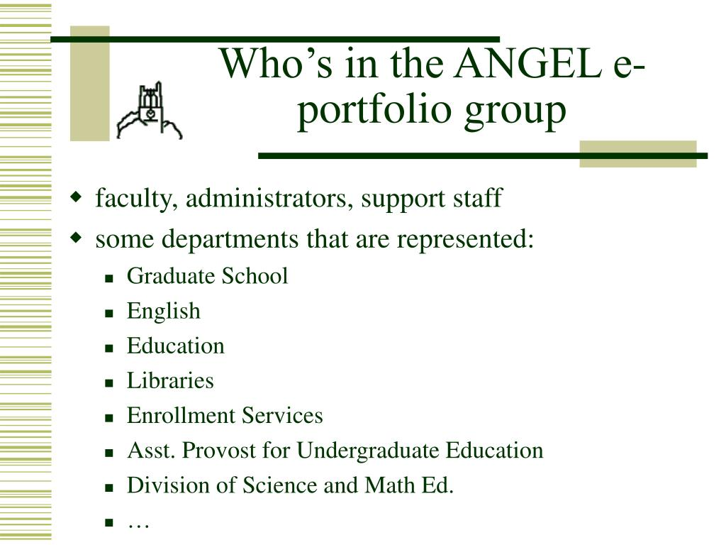 Who's in the ANGEL e-portfolio group