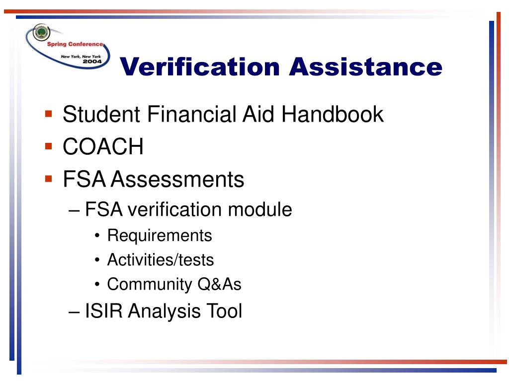 Verification Assistance