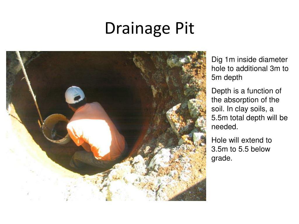 Drainage Pit