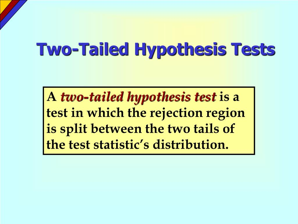 Two-Tailed Hypothesis Tests
