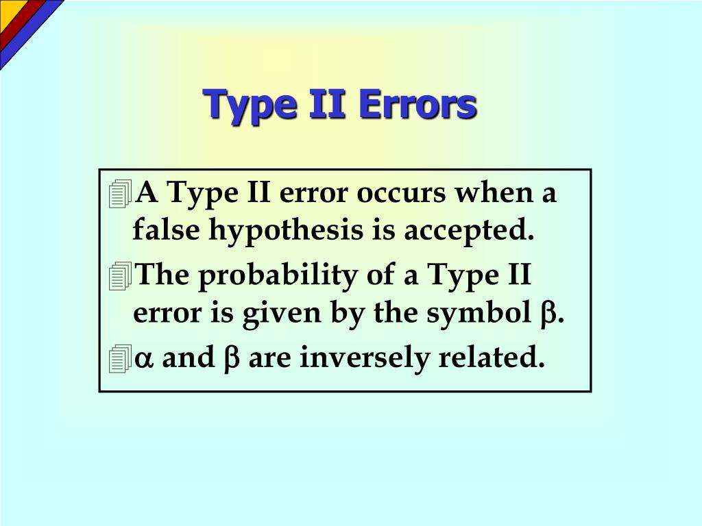 Type II Errors