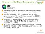 overview of nwchem background