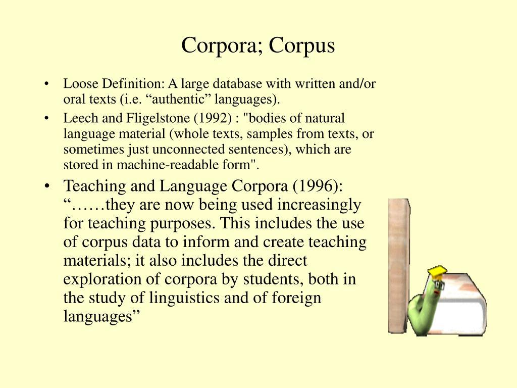 Corpora; Corpus