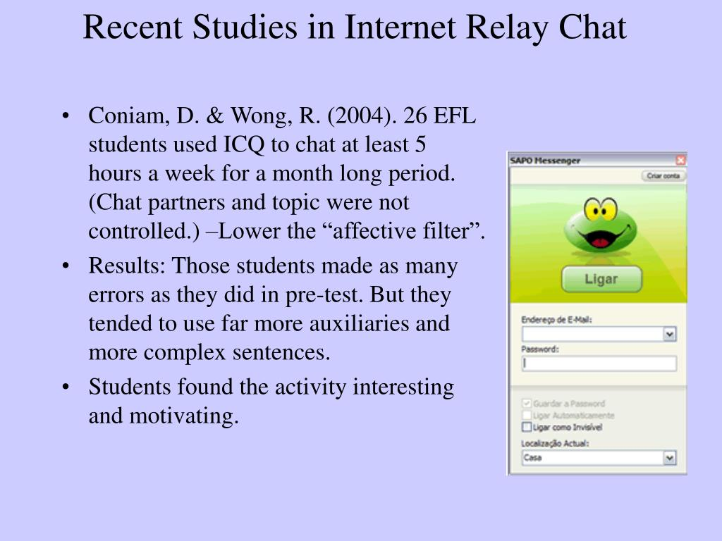 Recent Studies in Internet Relay Chat