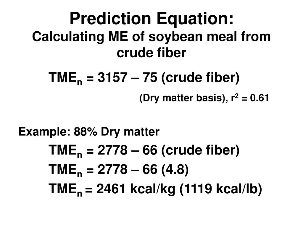 Prediction Equation: