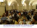 how many persons are in the epiet 2011 introductory course