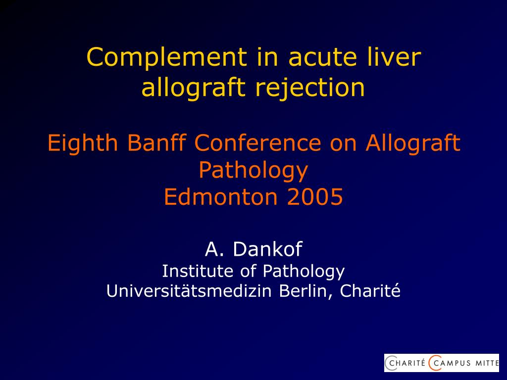 Complement in acute liver