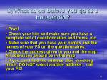 8 what to do before you go to a household