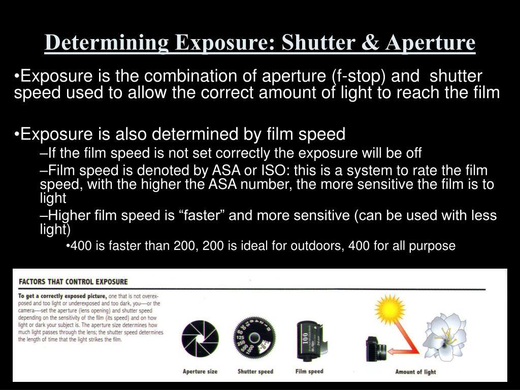Determining Exposure: Shutter & Aperture
