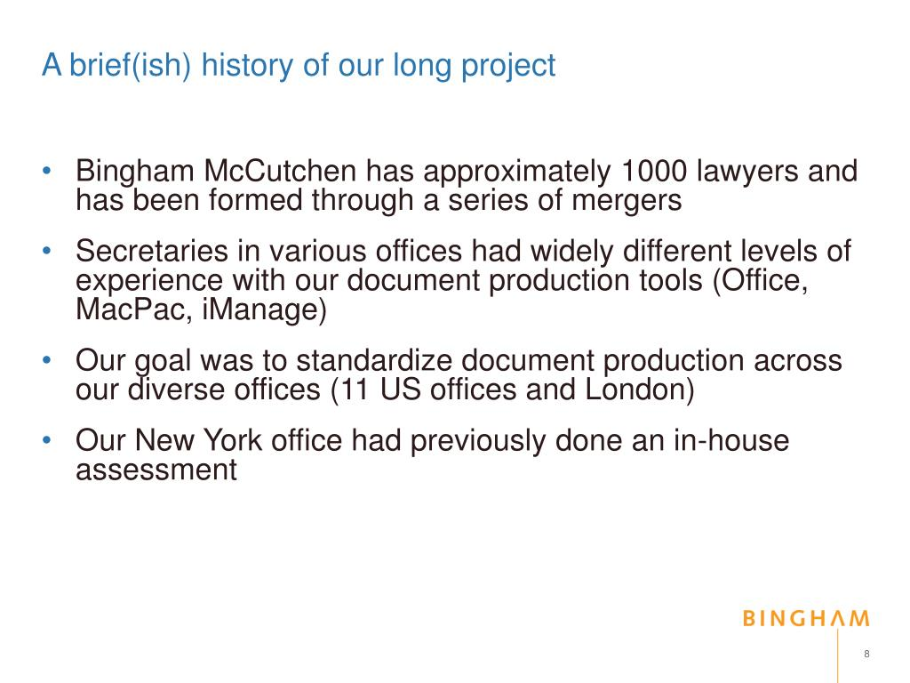 A brief(ish) history of our long project
