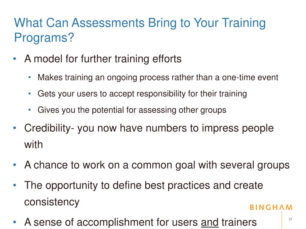 What Can Assessments Bring to Your Training Programs?