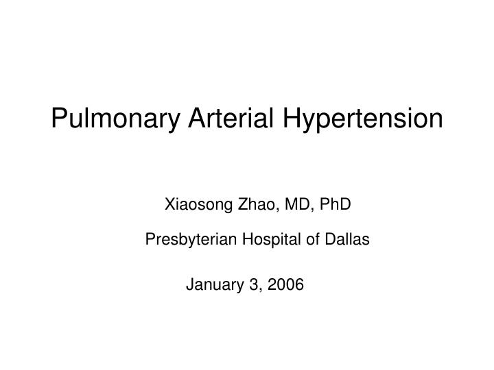 Pulmonary arterial hypertension l.jpg