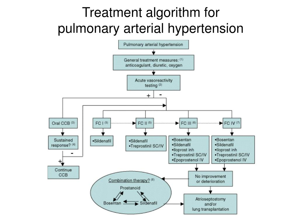 Treatment algorithm for pulmonary arterial hypertension