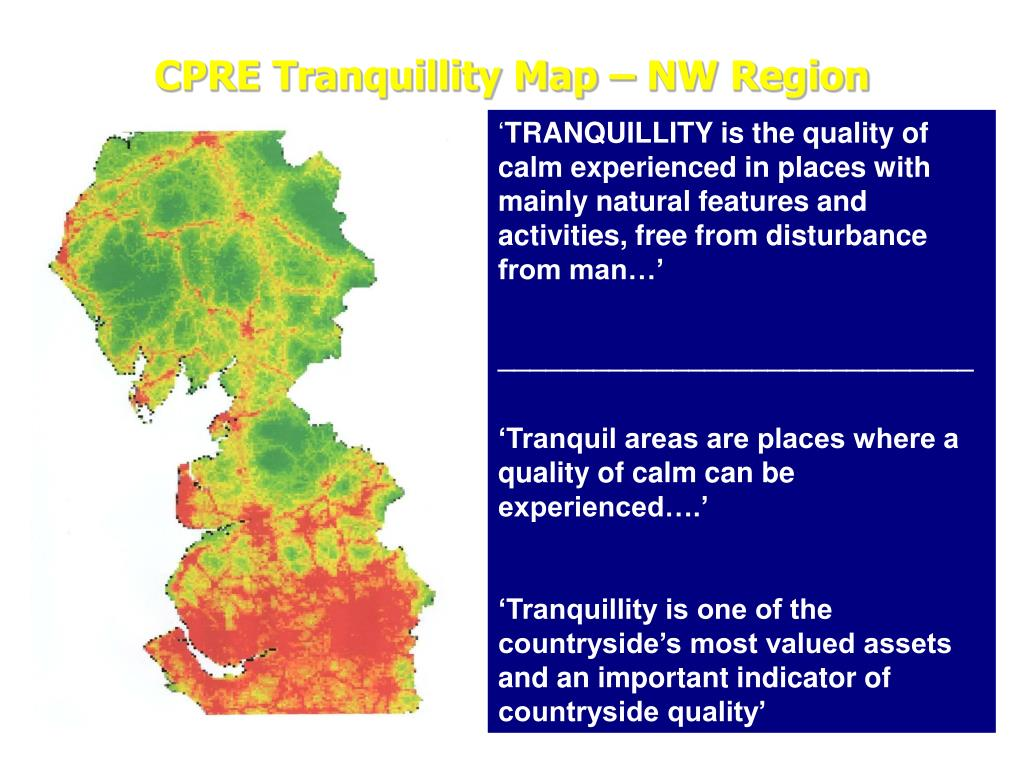 CPRE Tranquillity Map – NW Region