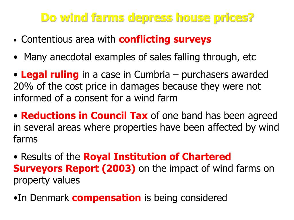 Do wind farms depress house prices?