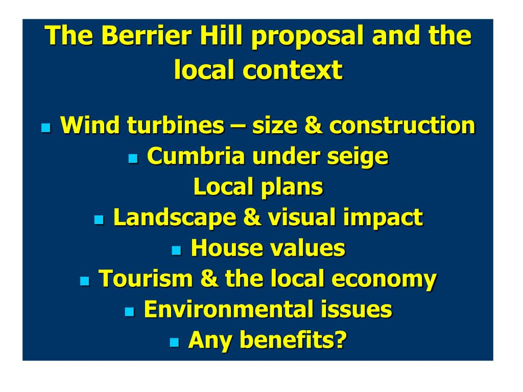 The Berrier Hill proposal and the