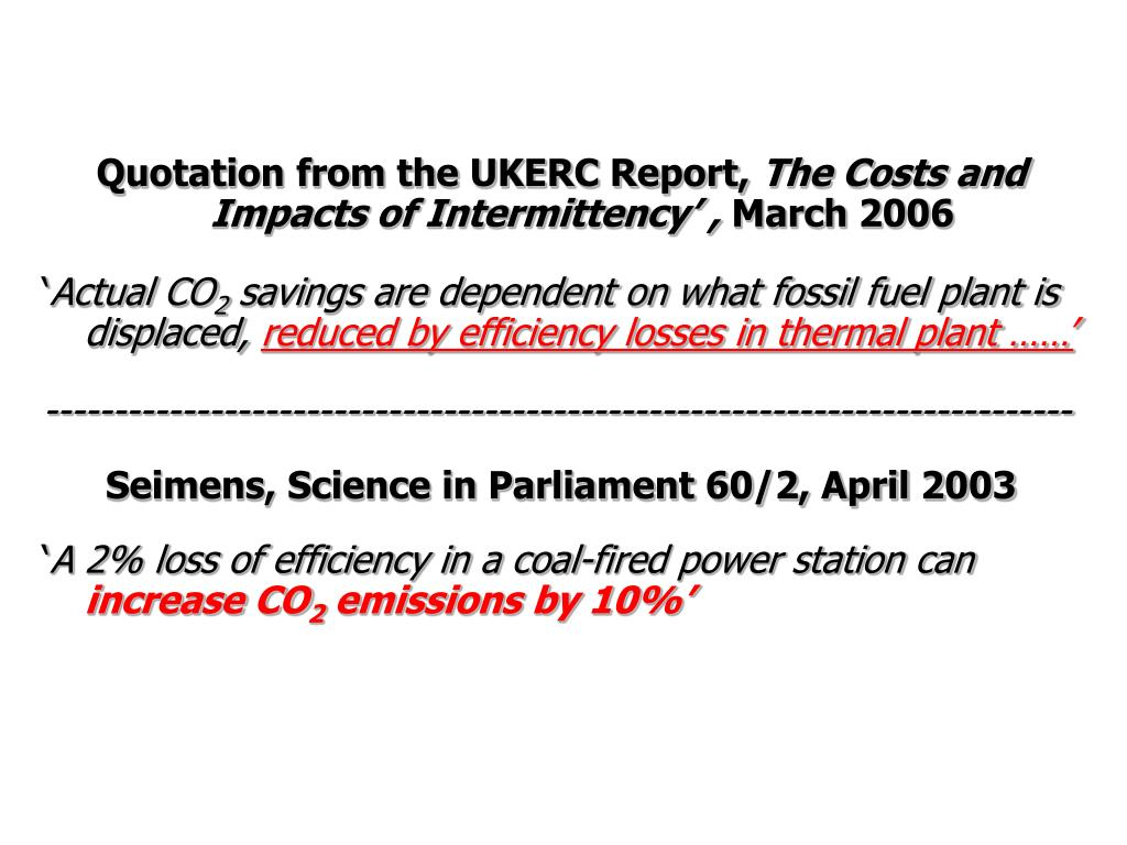 Quotation from the UKERC Report,