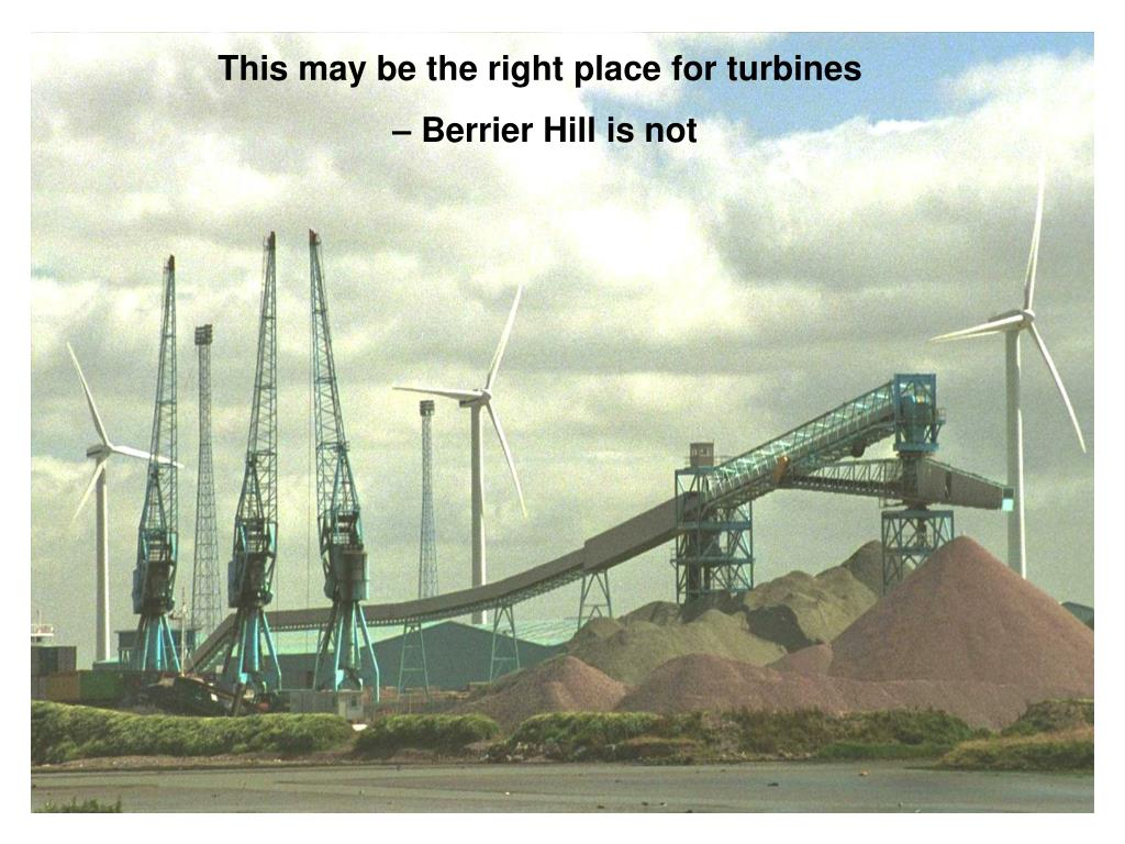 This may be the right place for turbines